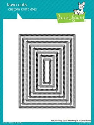 Lawn Fawn, lawn cuts/ Stanzschablone, just stitching double rectangles