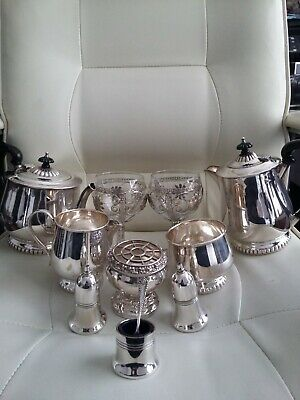 antique silver plated job lot grenadier and lanthe.