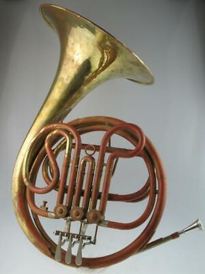 Vintage Double French Horn By Josef Lidl Brno
