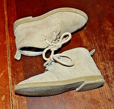 Old Navy fawn leather suede Chukka shoes toddler boy sz 5