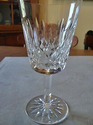 """Waterford Crystal """"Lismore"""" Water 6-7/8"""" High Stem Goblet Glass EUC"""