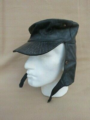 Vintage Foreign Legion Style Leather Biker's? Hat