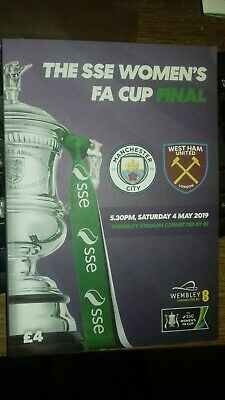 Manchester City Ladies V  West Ham Ladies 2018/19   Womens Fa Cup Final