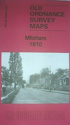 Old Ordnance Survey Detailed Maps Mitcham  Surrey 1910 Godfrey Edition New