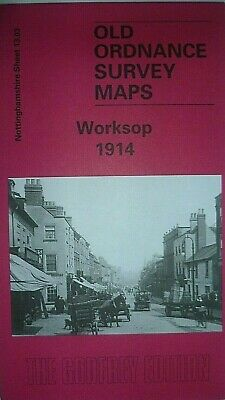 Old Ordnance Survey Maps Worksop Nottinghamshire 1914 Godfrey Edition New