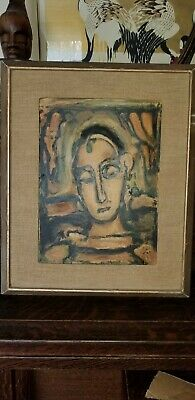 VINTAGE LITHO PAINTING GEORGES ROUAULT France, 1871 - 1958