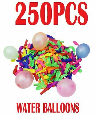 250 Water Balloons Bombs Multi Colour Kids Summer Party Fun Toys Bag Fill NEW UK
