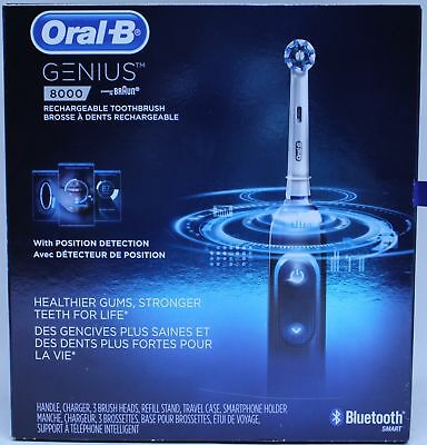 Oral-B Genius 8000 Rechargeable Battery Electric Toothbrush with Bluetooth