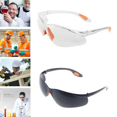 Clear Lens Protective Safety Glasses Eye Protection Fashion Goggles Lab Work