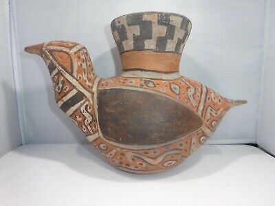 Authentic Large Pre Columbian Bird Vessel From Major Auction House