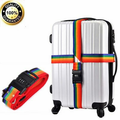 Luggage Suitcase Bag Lock 3 Digit Code Password Belt Strap Travel Baggage UK