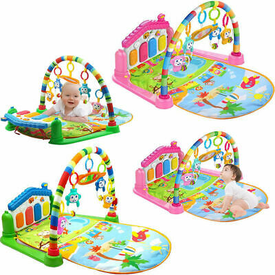 3 in 1 Baby Light Musical Gym Play Mat Lay & Play Fitness Fun Piano Boy Girls