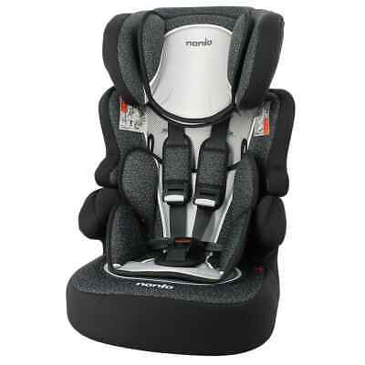 Nania Baby Car Seat 1+2+3 Black Children Vehicle Safe Protector Guard Chair