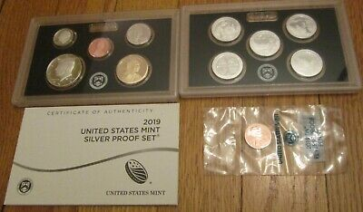 2019 Silver Proof Set 11 coins Including W Penny U.S. Mint Box and COA  19RH