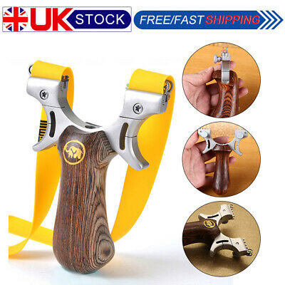 Powerful Stainless Steel Catapult Slingshot Outdoor Hunting Skidproof UK