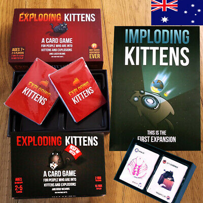 Exploding Kittens A Card Game ORIGINAL + NSFW + IMPLODING Board Game FREE P&P!!
