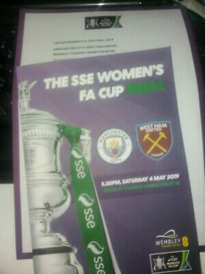 Manchester City Women v West Ham United Women, FA Cup Final, 2019 + teamsheet