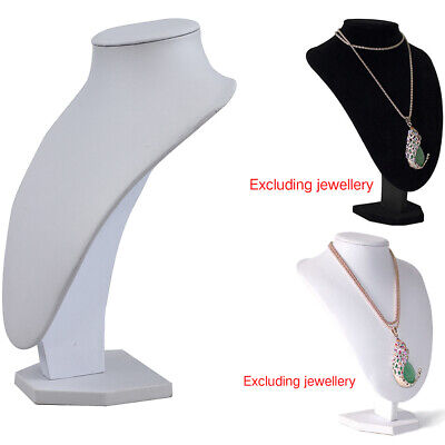 Luxury Shop Mannequin Bust Jewelry Necklace Pendant Earring Display Stand Holder