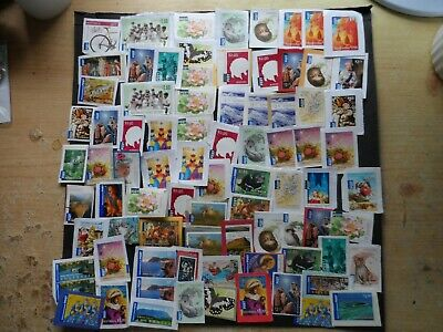 £173.35 Unfranked australian international post stamps mostly on paper 2 plastic