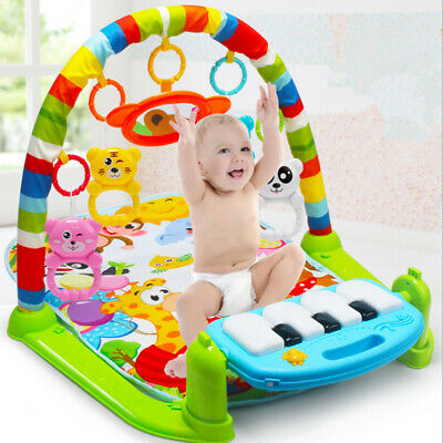 Baby Gym Play Mat Lay & Play 4 in 1 Fitness Music And Lights Fun Piano Boy Girl