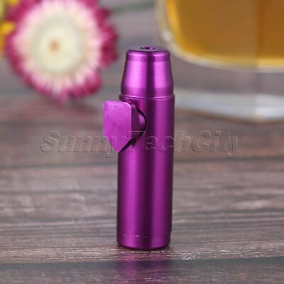 "Metal Mini Snuff Dispenser 2.08"" Purple Portable Tobacco Herb Powder Sniff Tool"