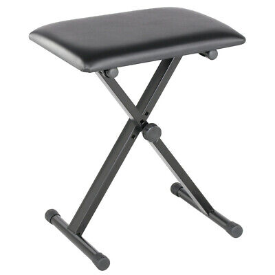 Portable Piano Stool Keyboard Stand X-Style Music Stand Adjustable W Foldable