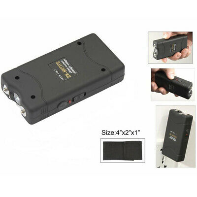 800TYPE 50 BV Mini Rechargeable LED Police Stun Gun + Taser Case BLACK