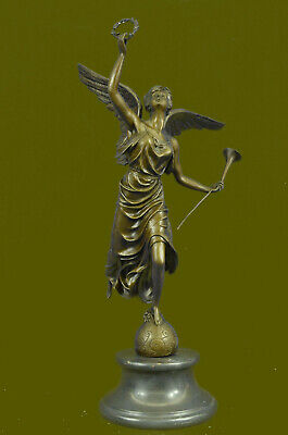 Art Deco Hand Made Nike Female Victory Angel Museum Quality Bronze Statue decor