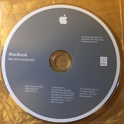 Mac OS X 10.6.1 Snow Leopard installer DVD and Apps DVD from a late 2009 iMac