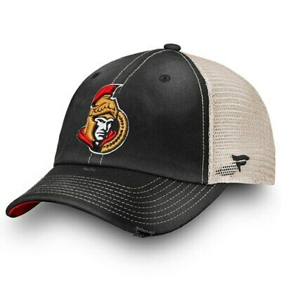 hot sale online bb1fa 5f4c8 Fanatics Branded Ottawa Senators Black True Classic Washed Trucker Snapback  Hat