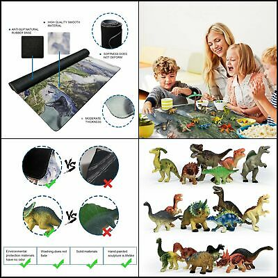 Joyin Toy 18 Pieces Educational Realistic Dinosaur Figures With Movable Jaws Han