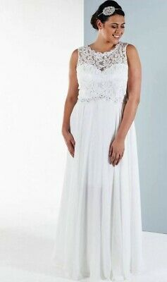 Lace And Tulle Wedding Dress , New Not Altered Size 18