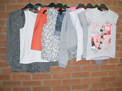 NEXT GEORGE DISNEY H&M etc Girls Summer Bundle Tops Shorts Cardigan Age 10-11