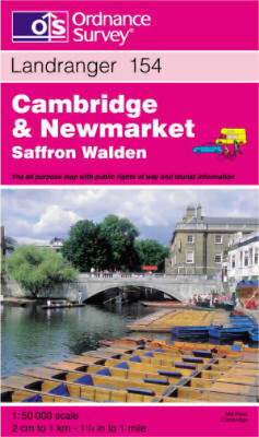 Cambridge and Newmarket, Saffron Walden (Landranger Maps), Ordnance Survey, Used