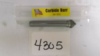 Sk-3 D/C Taper - 90° Included Angle Carbide Burr  *New* Pic# 4305  Double Cut