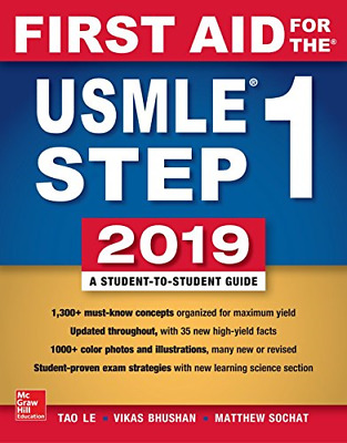 First Aid for The USMLE Step 1 by Tao Le (Paperback, 2019, 29th Edition)