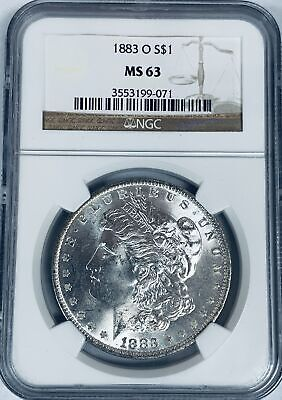 1883-O $1 Morgan Silver Dollar NGC MS63