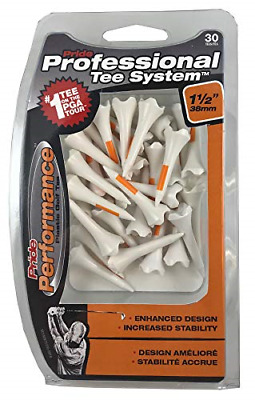 Pride Professional Tee System,Evolution Plastic Performance 30 Golf Tees, 1 1/2""