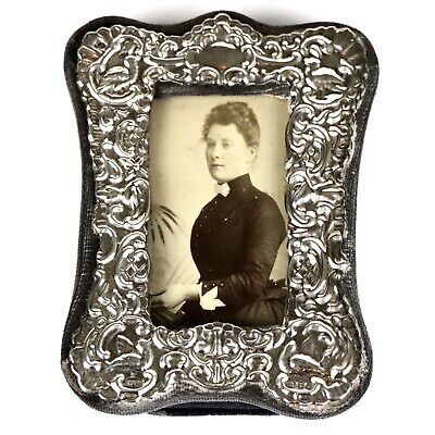 A Vintage Fully British Hallmarked Sterling Silver Ornate Photograph Frame