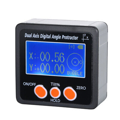 Dual Axis Digital Angle Protractor with Backlight IP65 Waterproof Aluminum Y4V3
