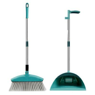 Long Handled Dustpan& Brush Set Lobby Dust Pan Broom Household Sweeping Cleaning