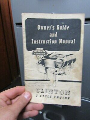 Clinton 2 Cycle Engine Owner's Guide and Instructions Manual