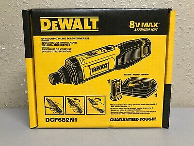 "DEWALT DCF682N1 8V MAX Lithium-Ion 1/4"" Hex Gyroscopic Screwdriver Kit New"