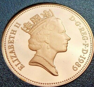 1989 PROOF ENGLISH DECIMAL TWO PENCE 2p COIN COIN HUNT (86)