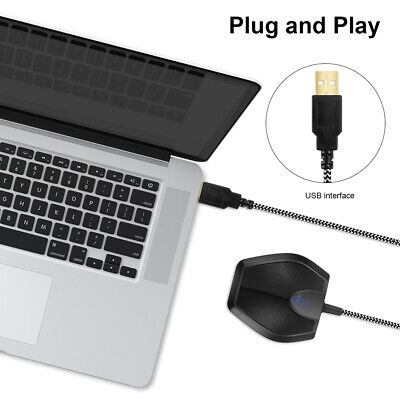 USB Omnidirectional Condenser Microphone Desktop Mic for Teleconferencing TH1131