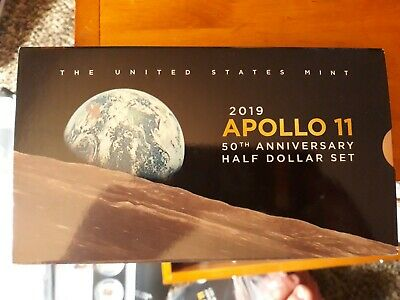 2019-S Apollo 11 50th Anniversary Proof Half Dollar 2 Coin Set with RP Kennedy.