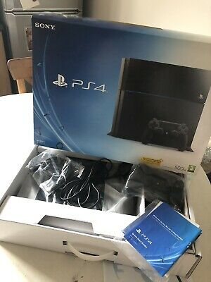 LOOK Sony Playstation 4 PS4 500GB Console Black Controller Power Cord Faulty Fan