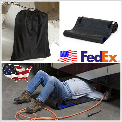 70x150CM Creeper Pad Black Rolling Pad for Worker On the Ground Repair Car Truck