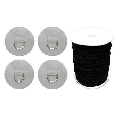 Stand Up Paddleboard SUP Bungee Pont Rigging Kit D Bague Patch Noir Gris