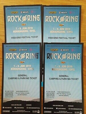 2 ROCK AM RING 2019 Weekend Festival Tickets + General Camping & Parking Tickets